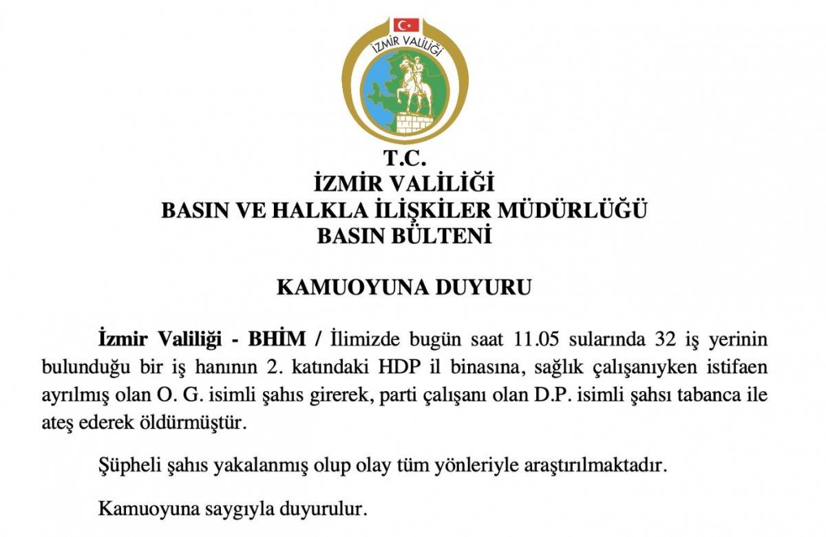 HDP İzmir il binasında silahlı saldırı #1