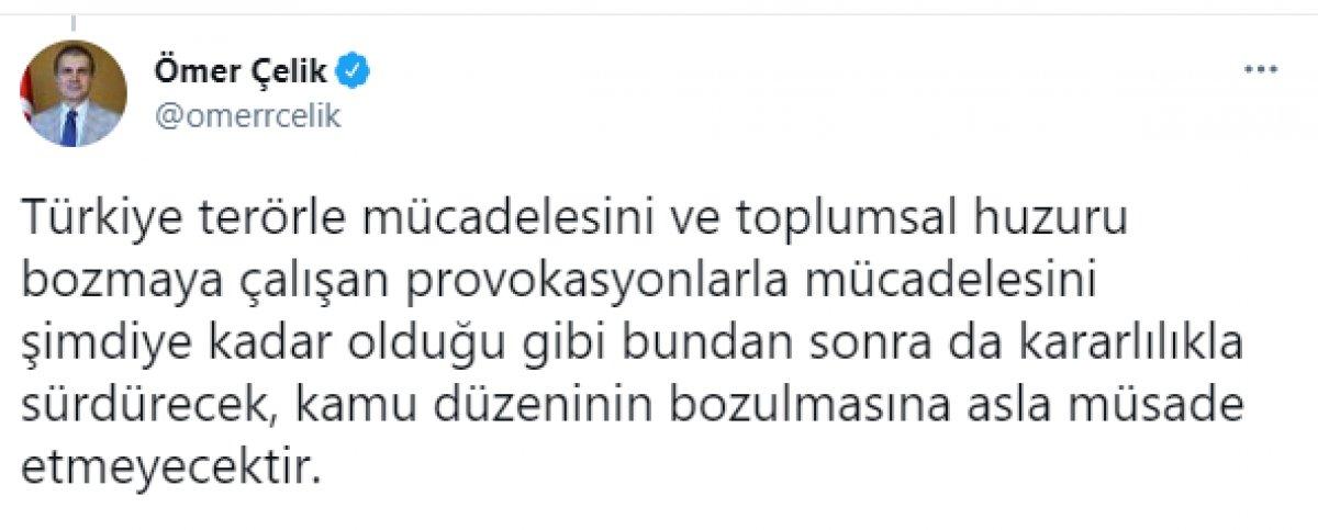 Ömer Çelik, HDP İzmir il binasındaki saldırıyı kınadı #4