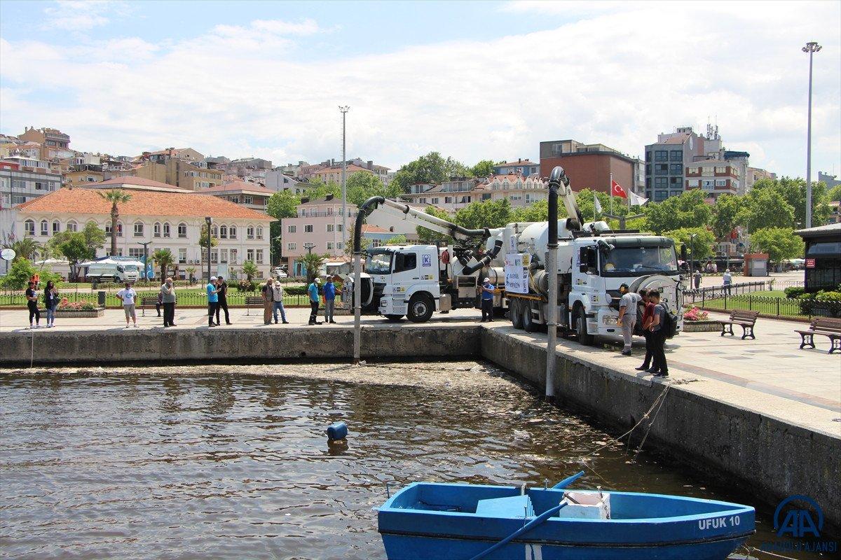 Balıkesir de müsilaj temizleme çalışmaları devam ediyor #3