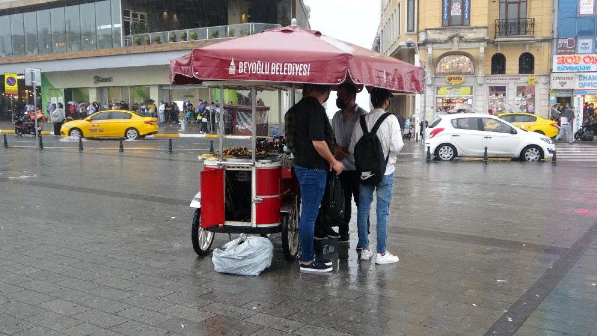 İstanbul da sağanak yağış etkili oluyor: Cadde ve sokaklar göle döndü  #2
