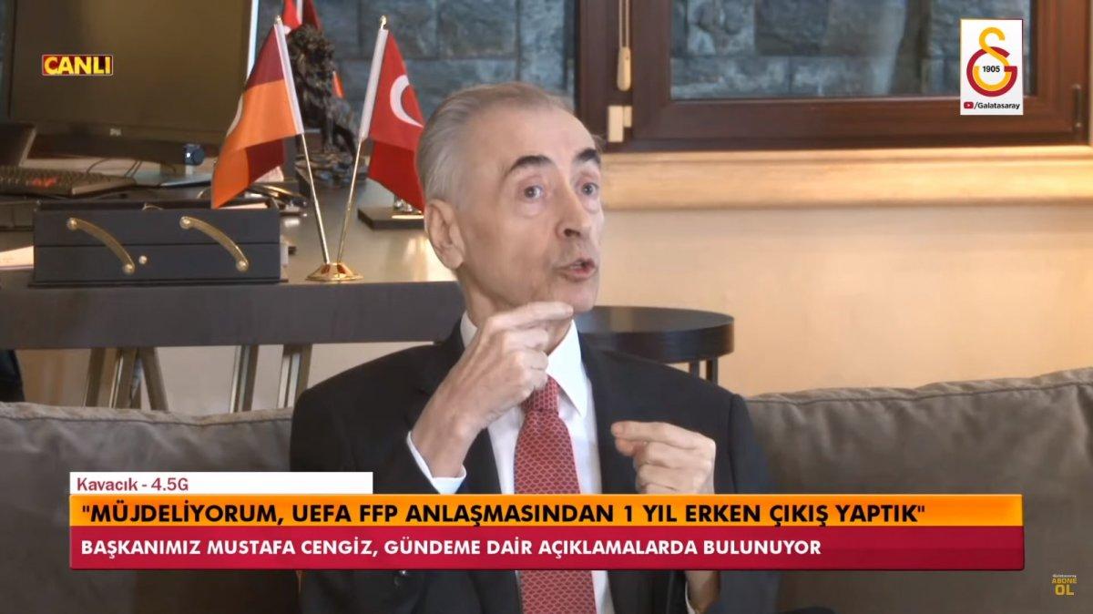 Mustafa Cengiz: Finansal Fair Play den çıkış yaptık #1
