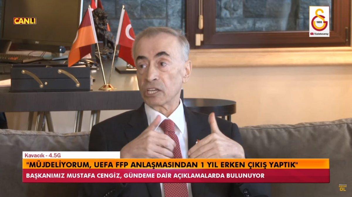 Mustafa Cengiz: Finansal Fair Play den çıkış yaptık #2