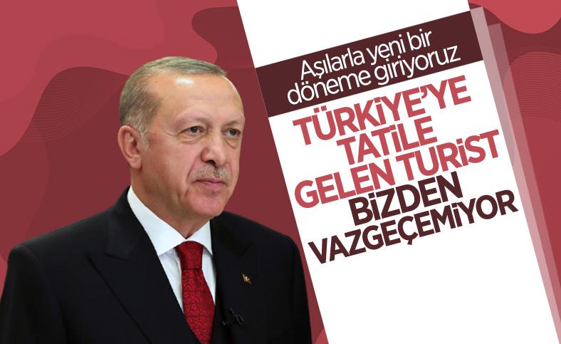 Cumhurbaşkanı Erdoğan: Tatil yapan turist Türkiye'den vazgeçemiyor