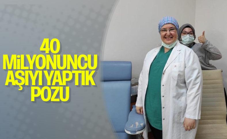 Fahrettin Koca, 40 milyonuncu aşıyı yapan doktoru paylaştı