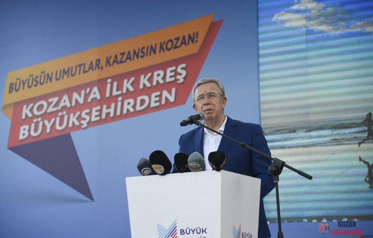 Adana da 10 belediye başkanıyla kreş temel atma töreni #3