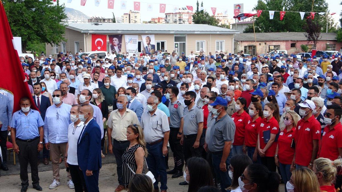 Adana da 10 belediye başkanıyla kreş temel atma töreni #5