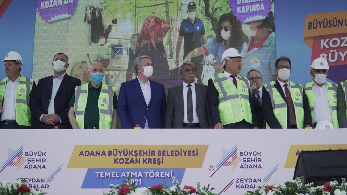 Adana da 10 belediye başkanıyla kreş temel atma töreni #1