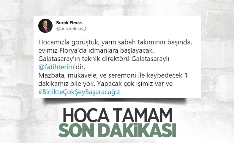Burak Elmas: Galatasaray'ın teknik direktörü Fatih Terim'dir