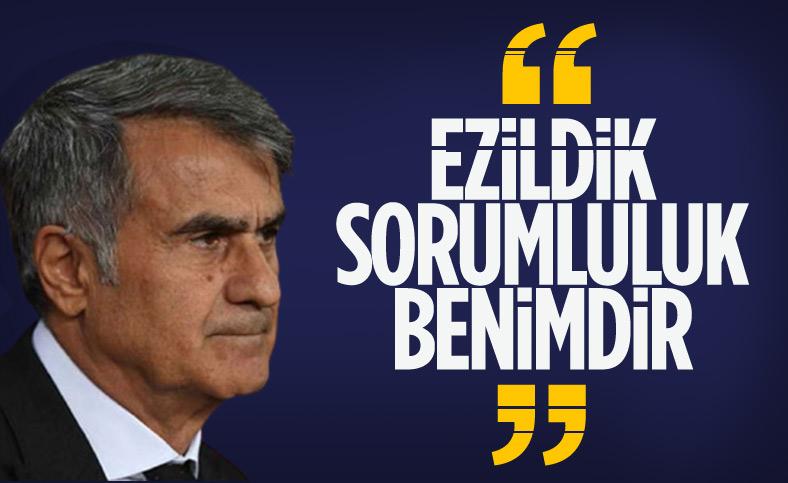 Şenol Güneş: Türk milletinin beklentisine cevap veremedik