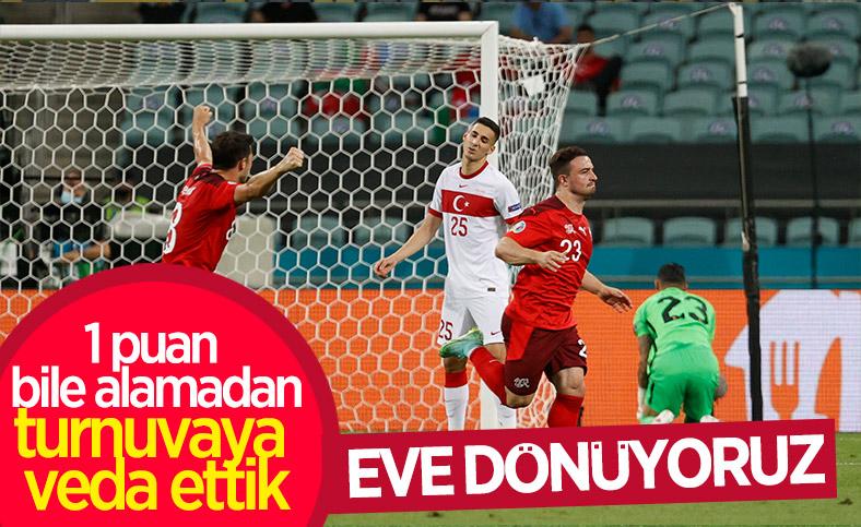 İsviçre'ye de yenilen Türkiye EURO 2020'ye veda etti