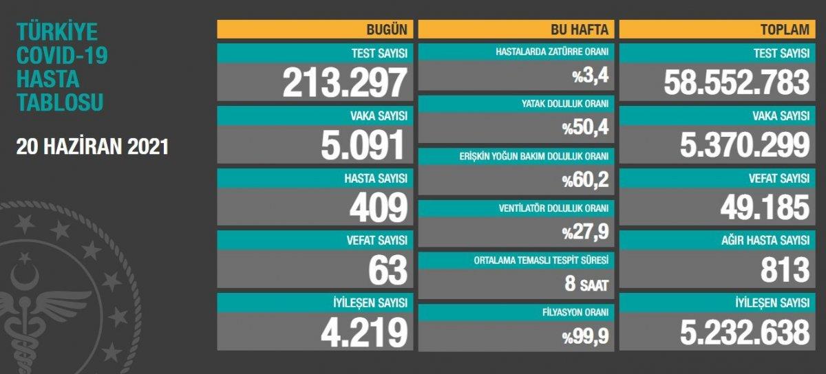 20 Haziran Türkiye de koronavirüs tablosu  #1