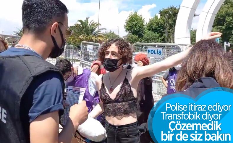 Maltepe'deki trans şahıs, kadın polis tarafından aranmak istedi