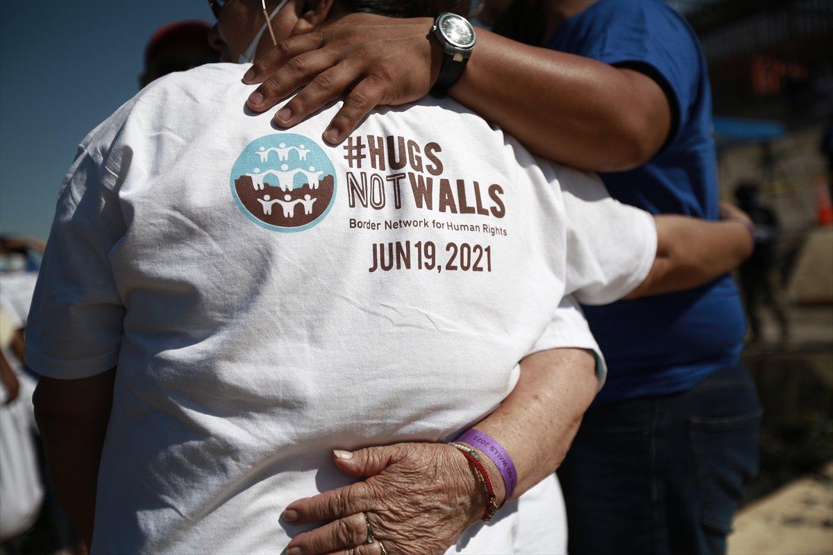 ABD - Meksika sınırında gösteri #4