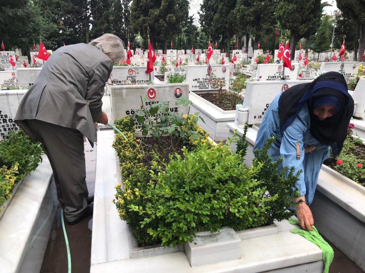 Edirnekapı Şehitliği'nde Babalar Günü buruk geçti  #7