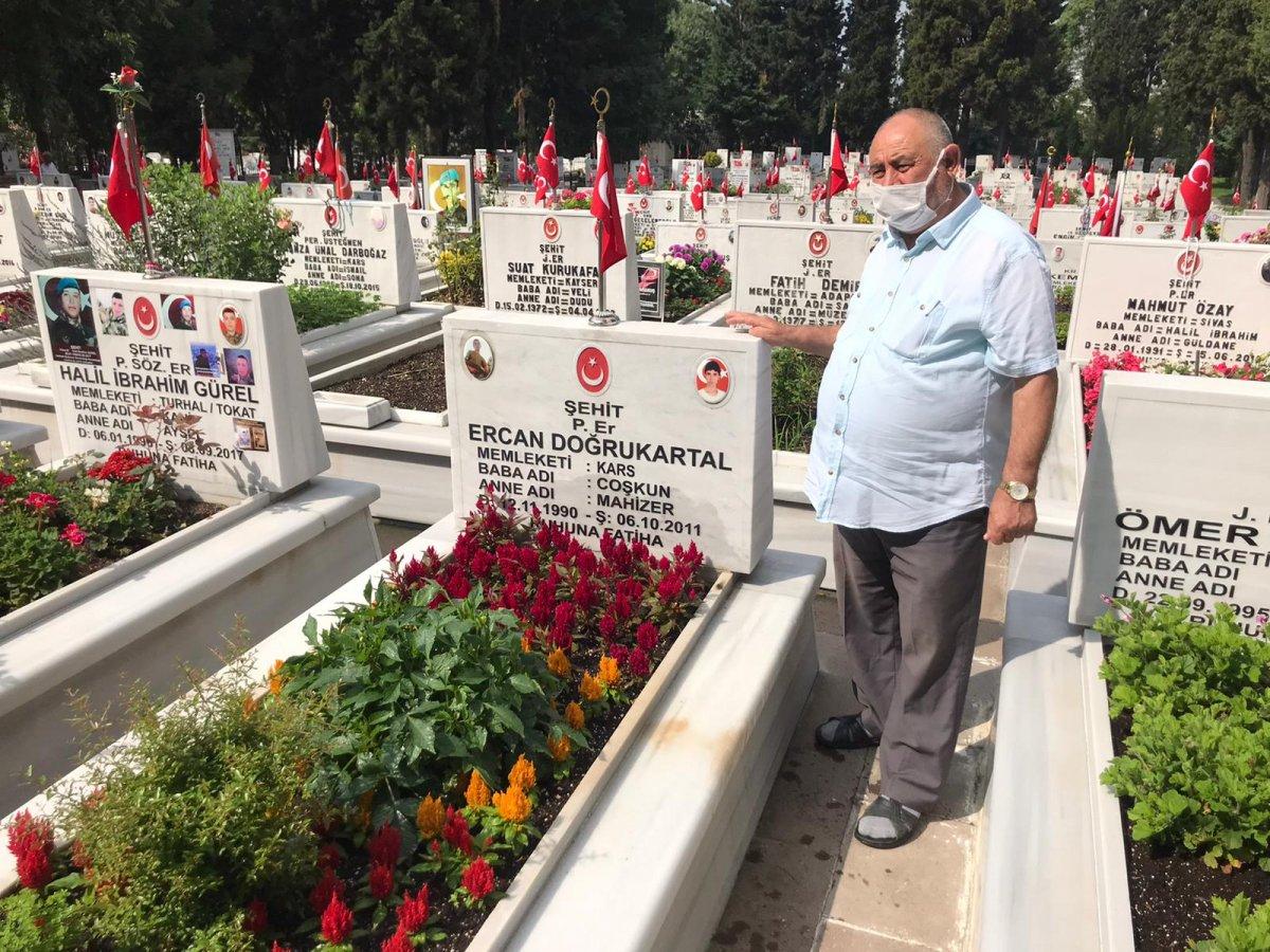 Edirnekapı Şehitliği'nde Babalar Günü buruk geçti  #6