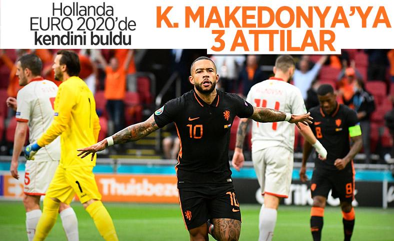 Hollanda, Kuzey Makedonya'yı farklı yendi