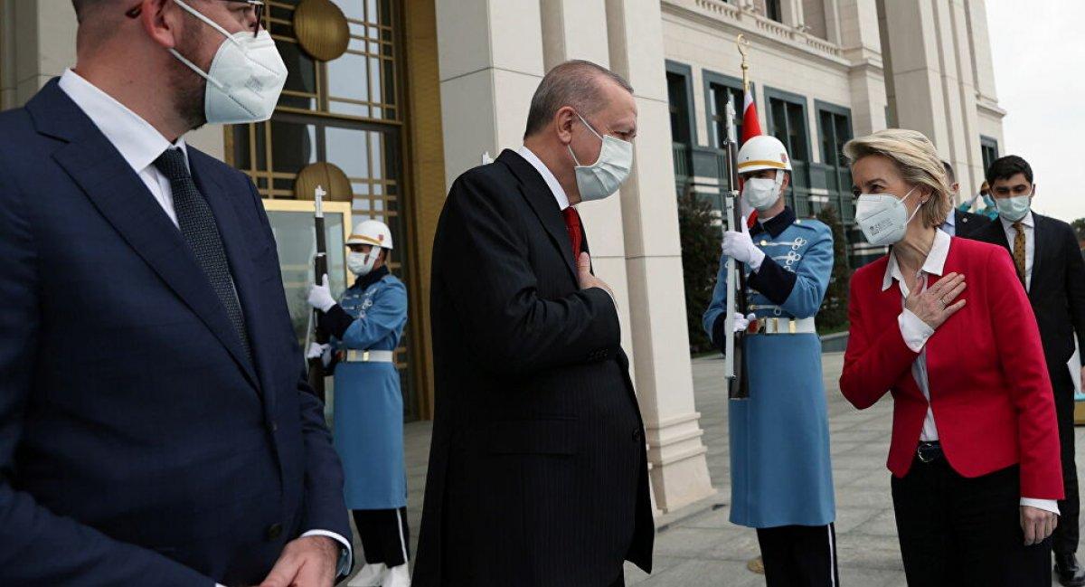 Cumhurbaşkanı Erdoğan, AB Komisyonu Başkanı Leyen ile görüştü #1