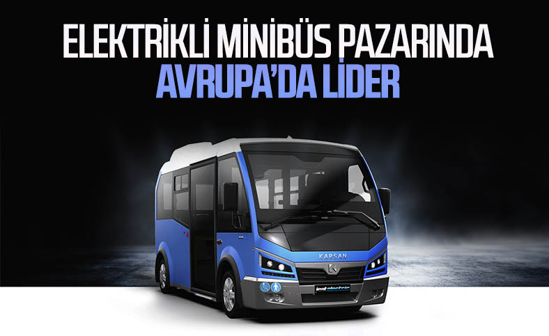 Karsan, Avrupa'da elektrikli minibüs pazarının lideri oldu