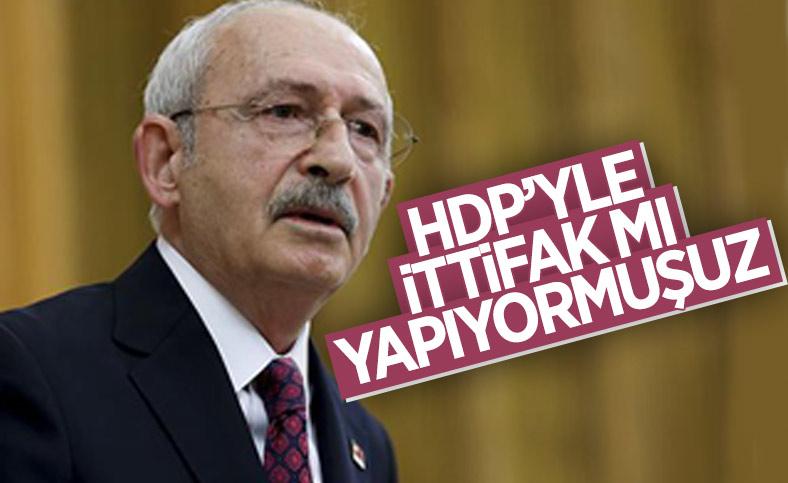 Kemal Kılıçdaroğlu'nun HDP ile ittifak sorusuna cevabı