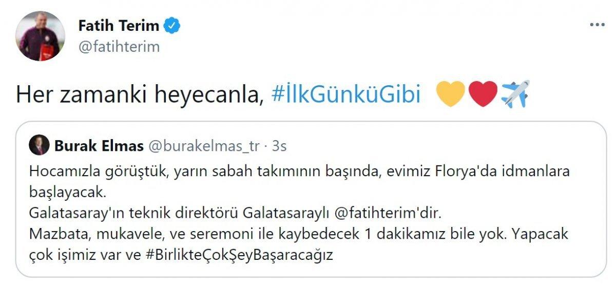 Galatasaray dan Fatih Terim paylaşımı #1