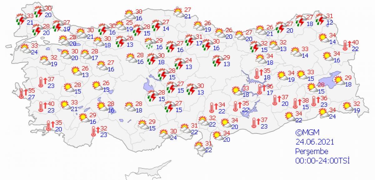 Meteoroloji'den uyarı: İstanbul 4 gün boyunca yağışlı olacak #4