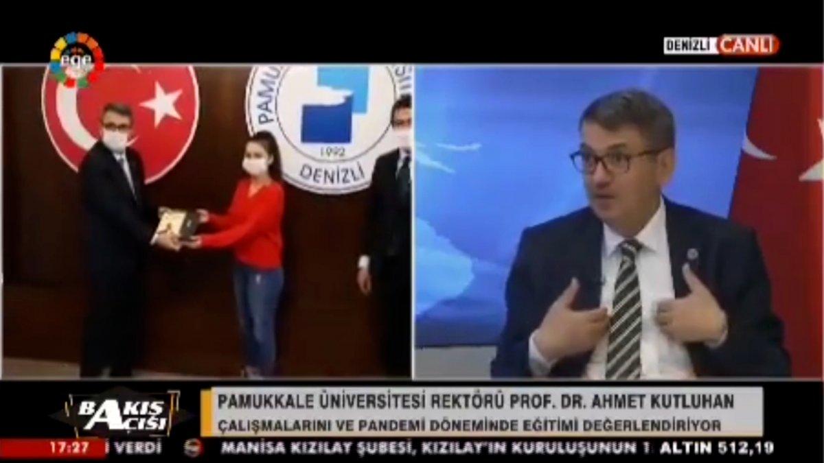 Pamukkale Üniversitesi Rektörü Ahmet Kutluhan dan şaşırtan açıklama #1