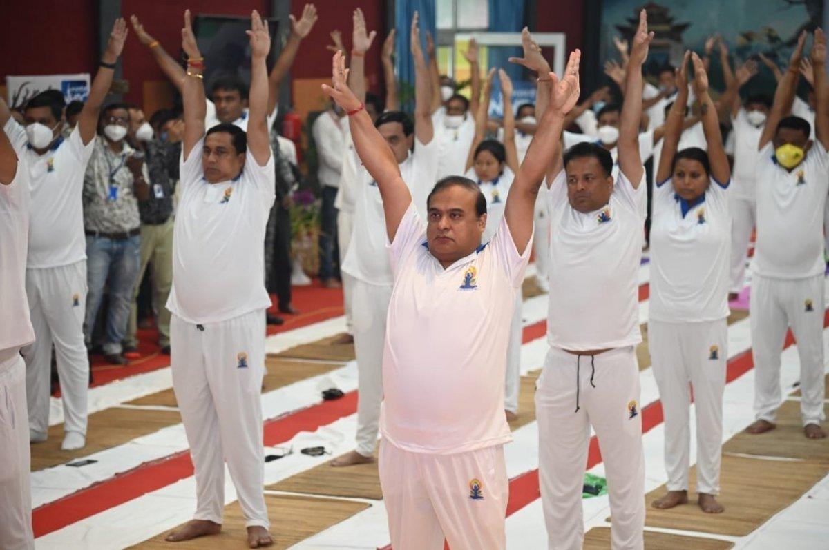 Hindistan da Uluslararası Yoga Günü kutlaması #6