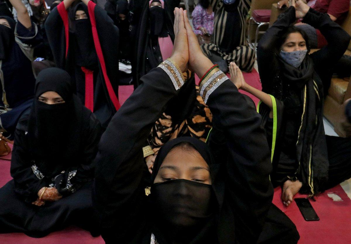 Hindistan da Uluslararası Yoga Günü kutlaması #1