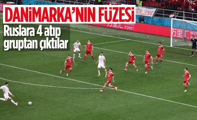Danimarka Euro 2020'de Rusya'yı 4-1 yenerek tur atladı