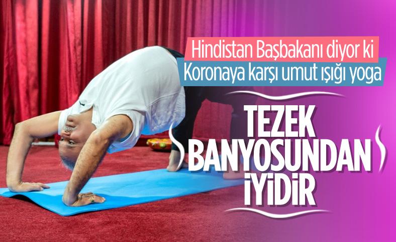 Hindistan'da Uluslararası Yoga Günü kutlaması