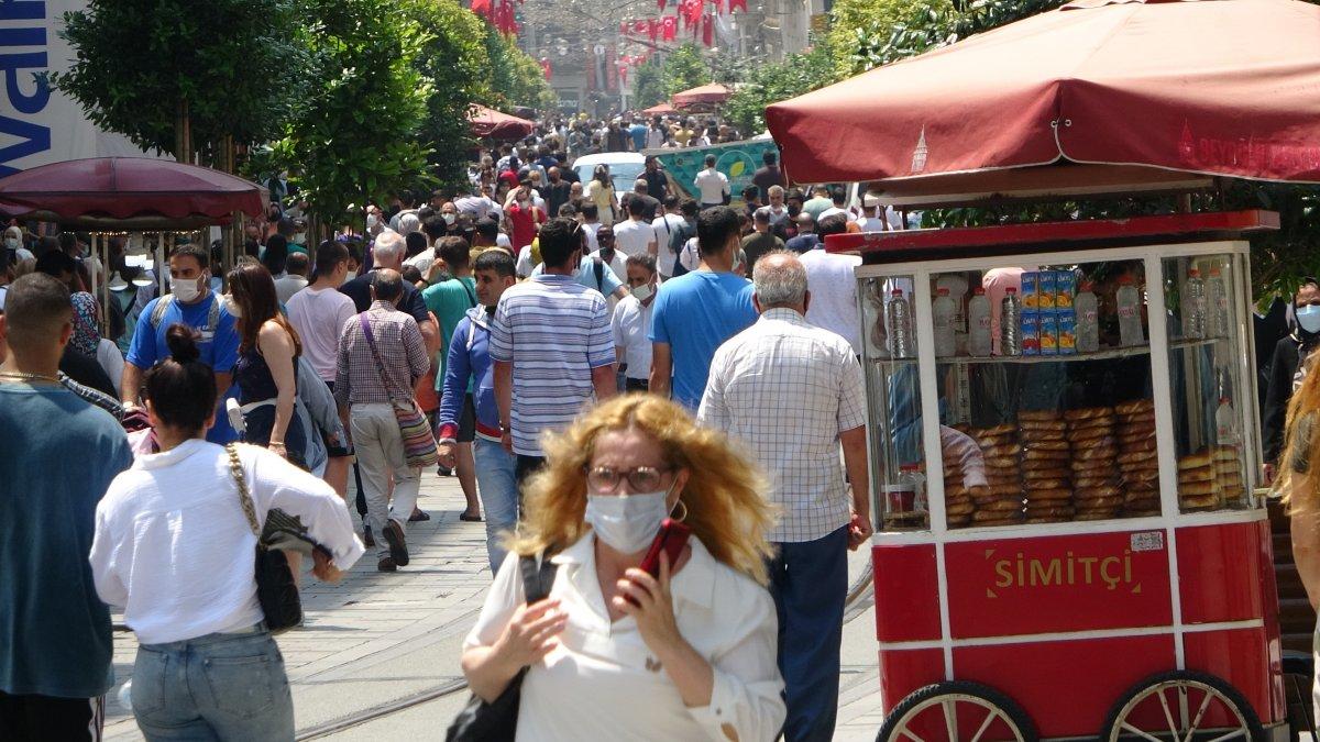 Taksim de pandemi öncesini aratmayan yoğunluk #8