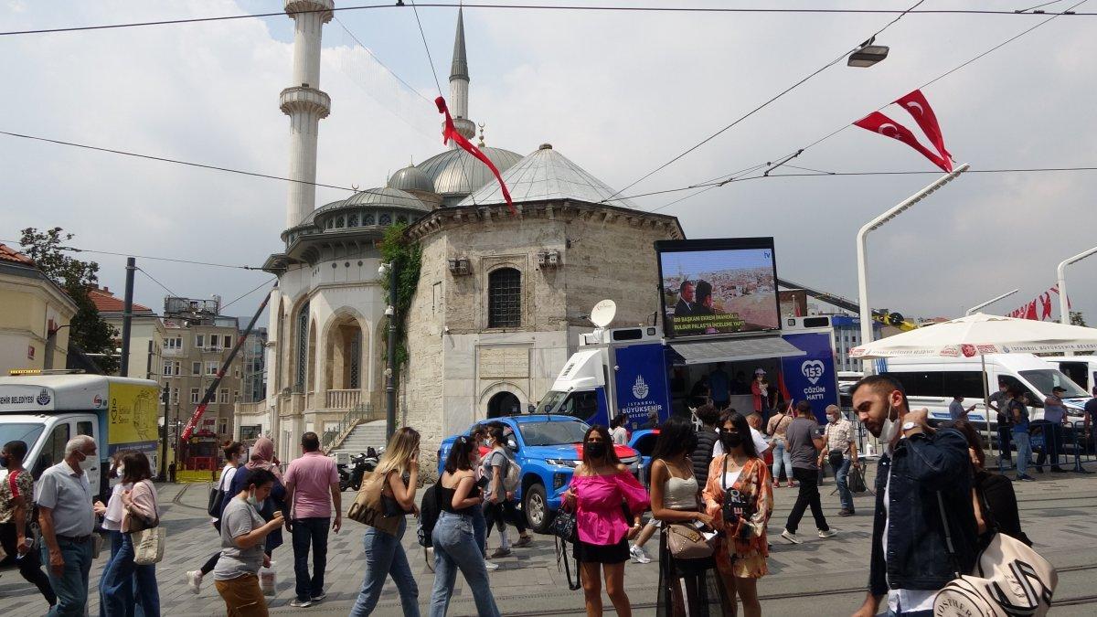 Taksim de pandemi öncesini aratmayan yoğunluk #6
