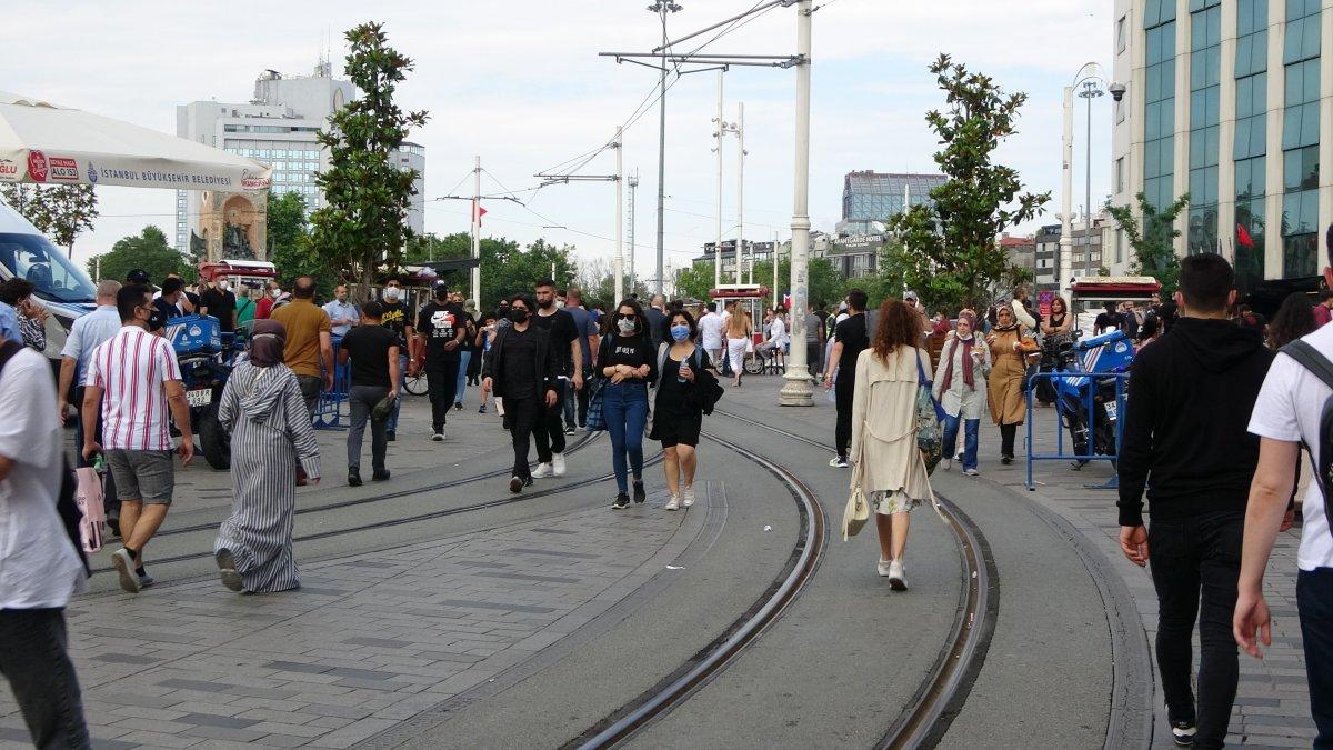 Taksim de pandemi öncesini aratmayan yoğunluk #12