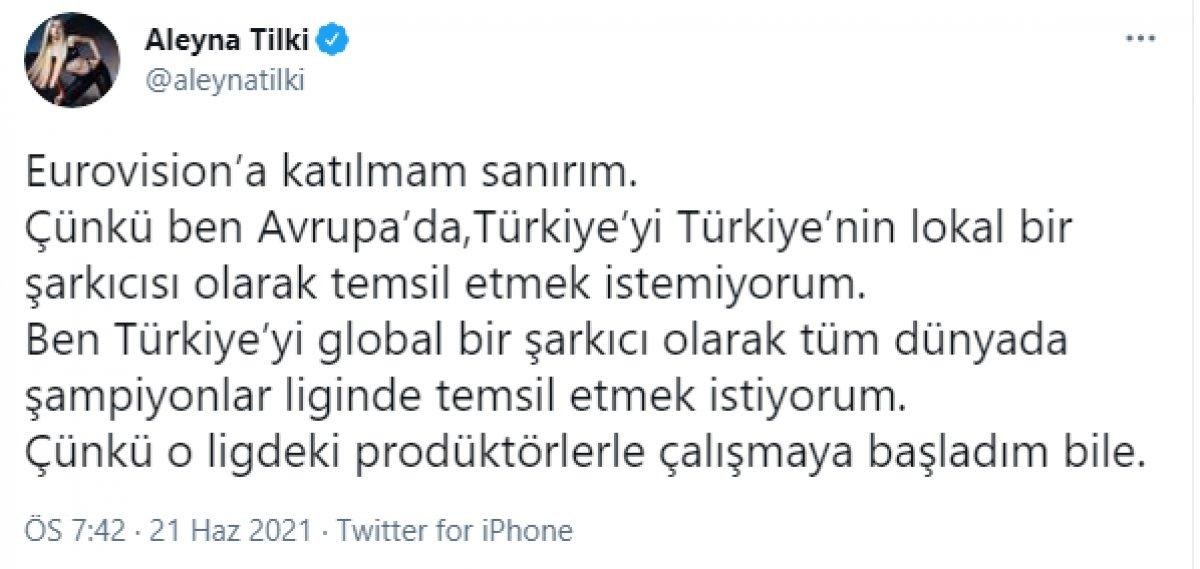 Aleyna Tilki: Türkiye'nin lokal şarkıcısı olamam #1
