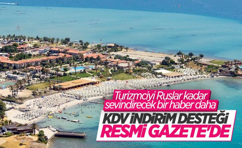 Turizmde KDV indirimi desteğinin uzatılması Resmi Gazete'de