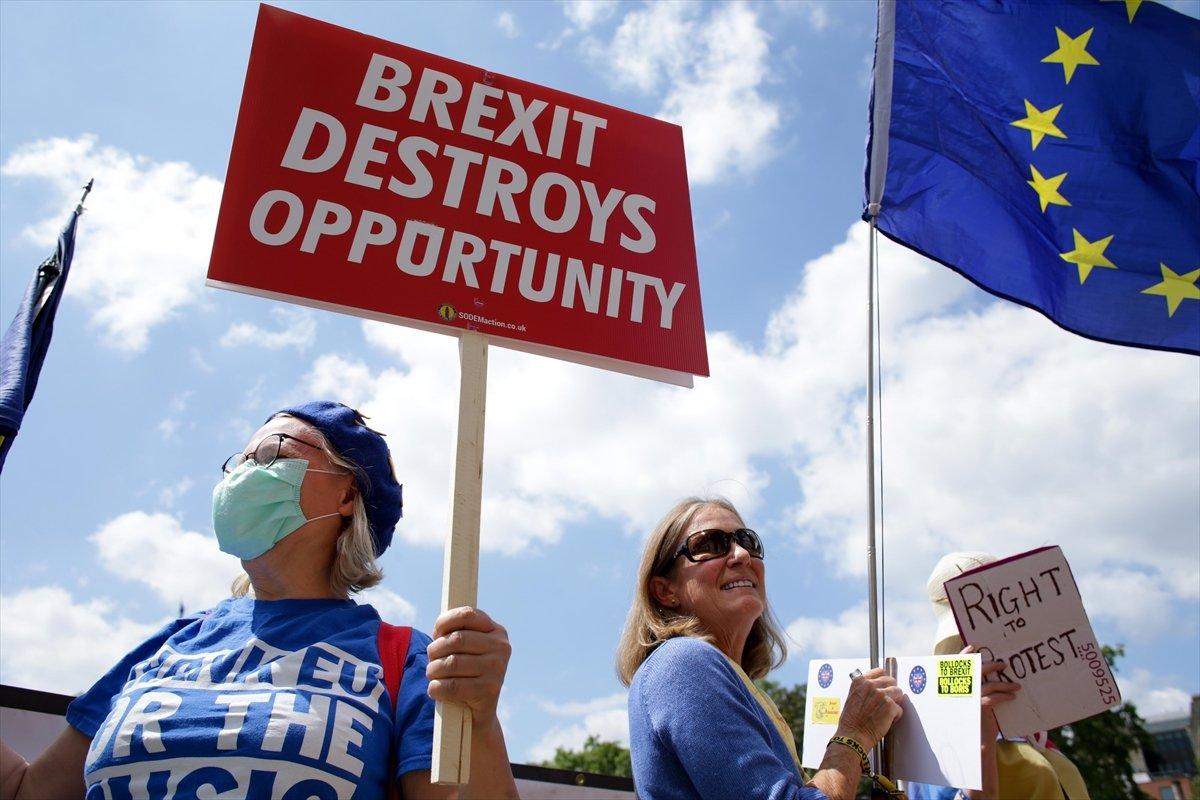 Brexit karşıtları, Londra da toplandı #3