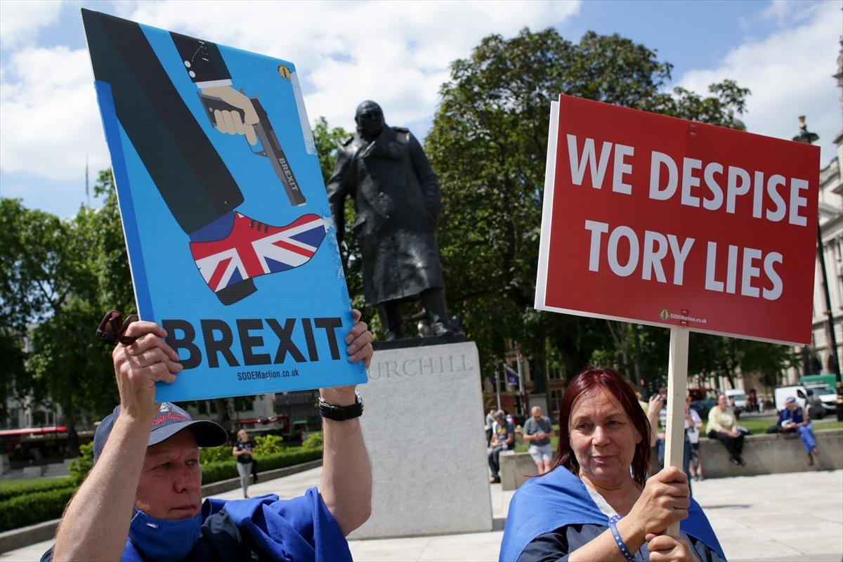 Brexit karşıtları, Londra da toplandı #8