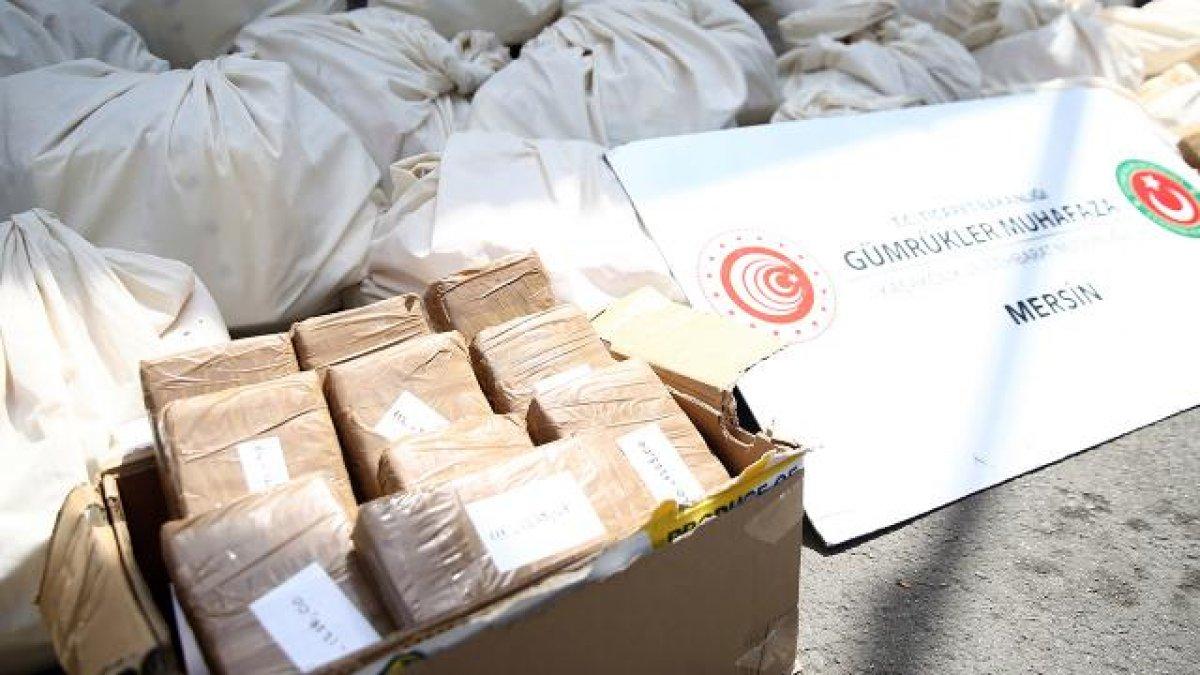 Mersin Limanı nda 463 kilogram kokain ele geçirildi #1
