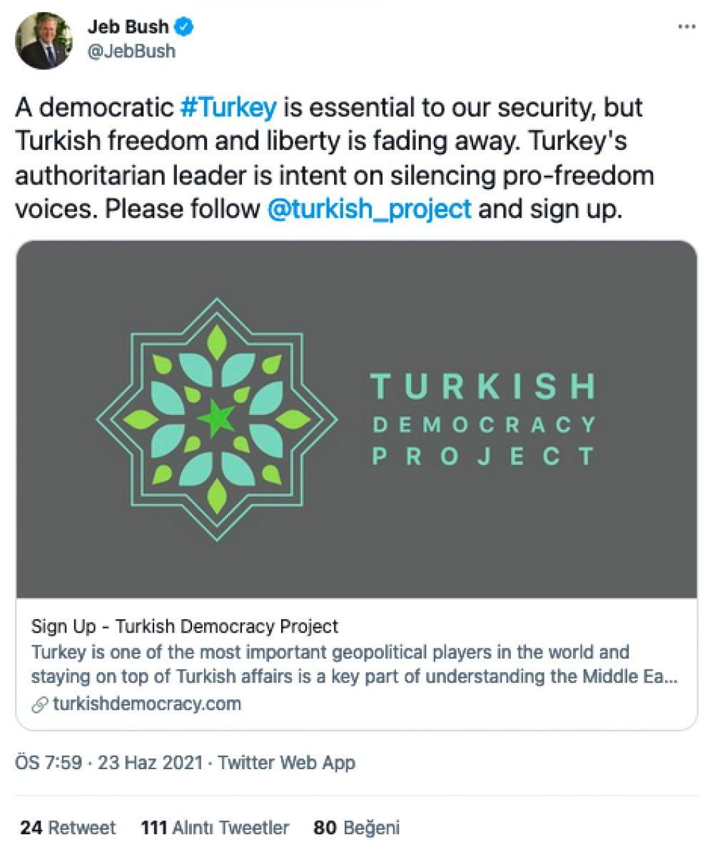 John Bolton ve Jeb Bush,  Türkiye ye demokrasi getirmek  iddiasıyla dernek kurdu #2