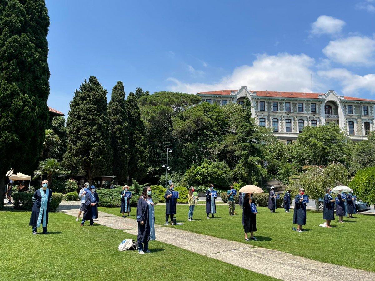 Boğaziçi Üniversitesi nde akademisyenlerin eylemi sürüyor #2