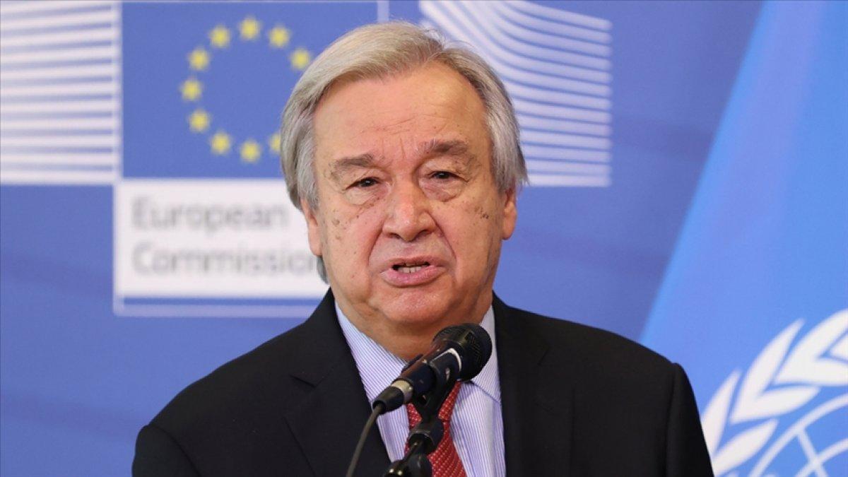 Antonio Guterres ten, Suriye ye yardıma destek çağrısı #1
