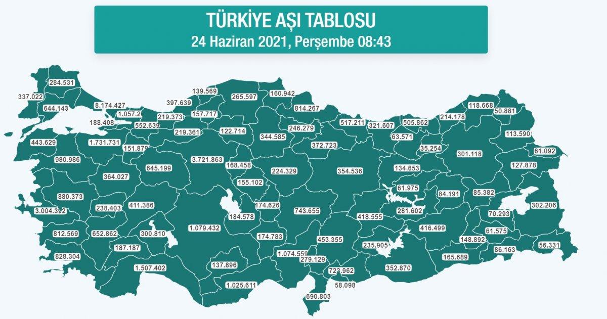 Türkiye de uygulanan birinci doz 30 milyonu geçti #1