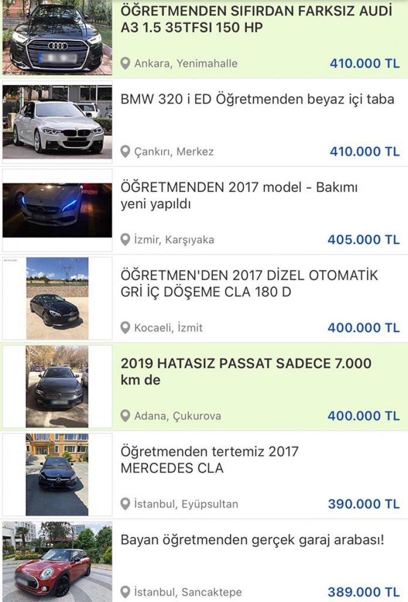 Öğretmenden satılık lüks araç ilanları sosyal medyanın gündeminde #1