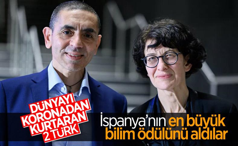 Uğur Şahin ve Özlem Türeci, İspanya'nın en büyük bilim ödülüne layık görüldü