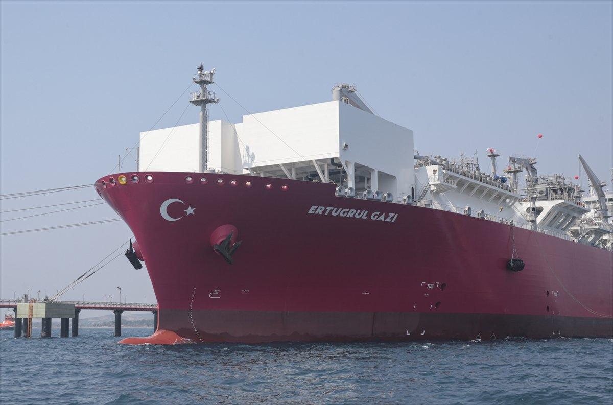 Türkiye nin ilk doğalgaz depolama gemisi Ertuğrul Gazi hizmete girdi #3