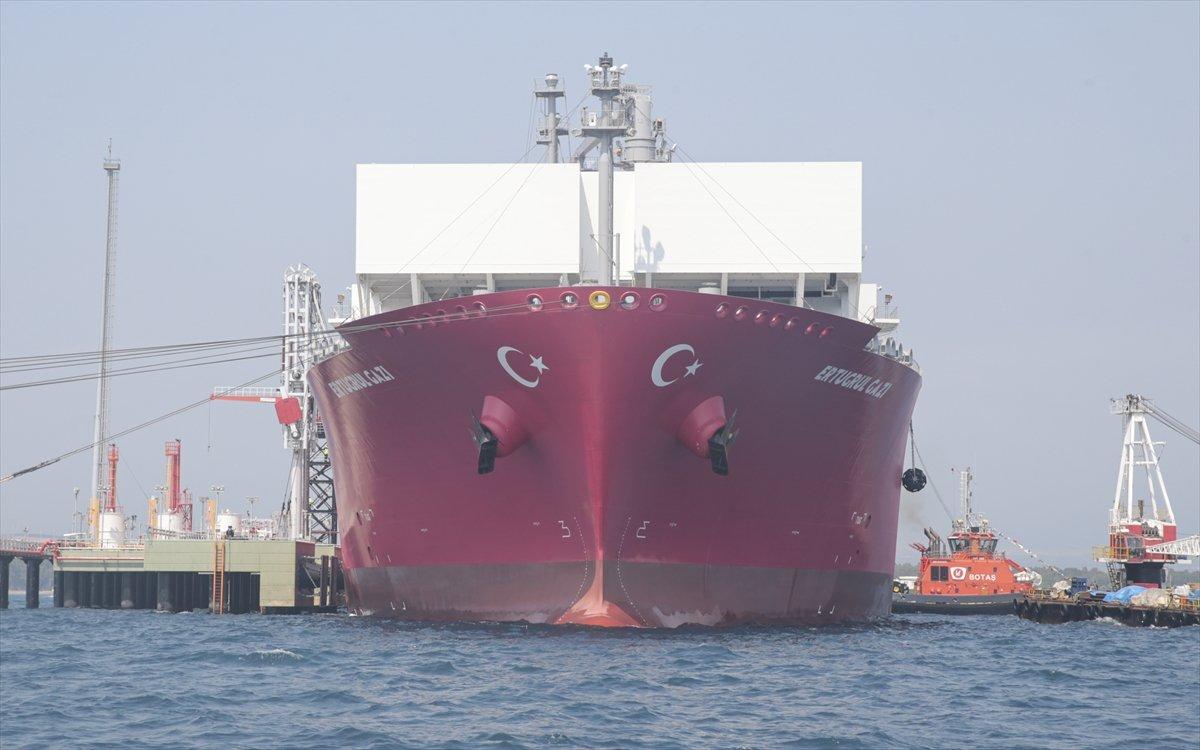 Türkiye nin ilk doğalgaz depolama gemisi Ertuğrul Gazi hizmete girdi #4