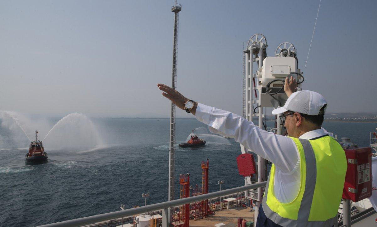 Türkiye nin ilk doğalgaz depolama gemisi Ertuğrul Gazi hizmete girdi #7