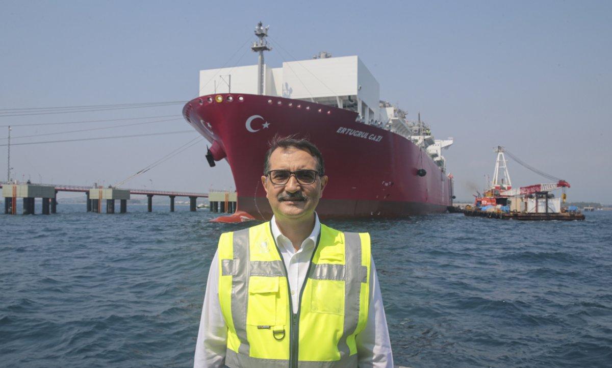 Türkiye nin ilk doğalgaz depolama gemisi Ertuğrul Gazi hizmete girdi #6