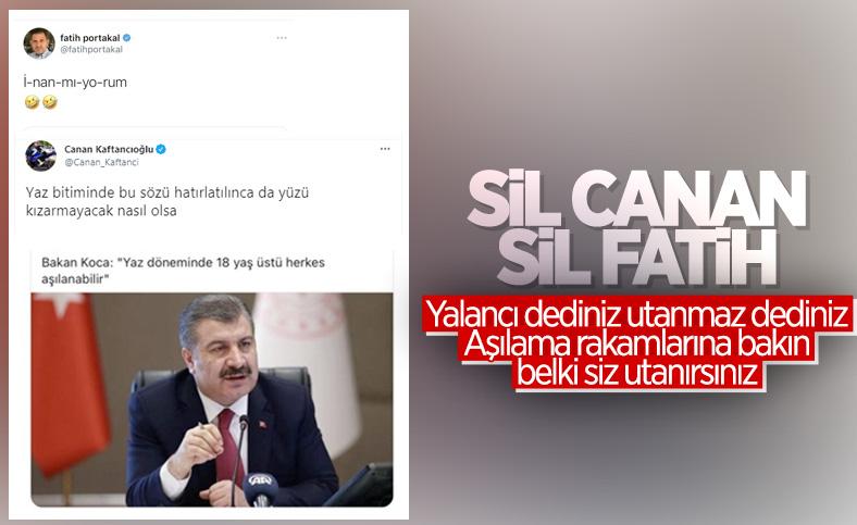 Fatih Portakal ve Canan Kaftancıoğlu'nun aşı tweet'i dolaşıma girdi