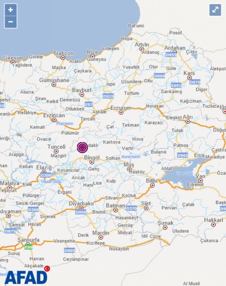 Bingöl de 5.2 büyüklüğünde deprem  #3